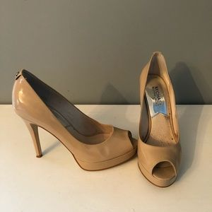 Michael Kors Patent Peep Toe Pumps